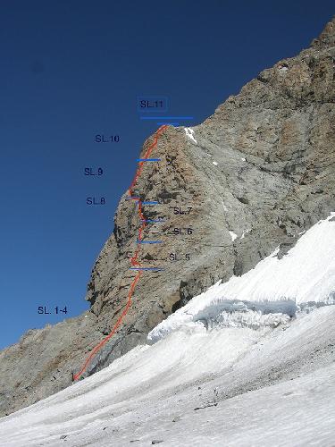 """маршрут """"Freudenschrek"""", 6а+, 485м"""