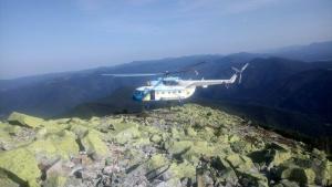 В Карпатах на горе Хомяк умер турист: спасательные работы проводились с использованием вертолета