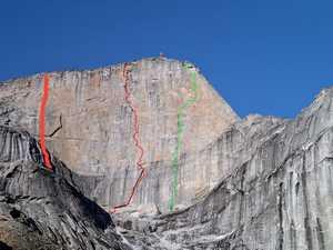 В центре внимания Ксанаду: три команды открывают три первых маршрута на Западную стену аляскинской горы