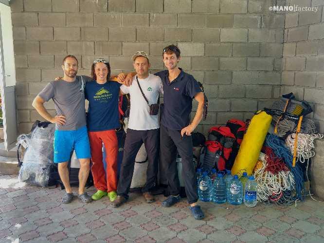Команда перед стартом экспедиции