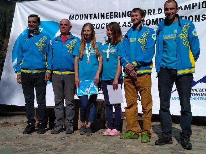Украинская команда на Чемпионате мира по альпинизму в скальном классе