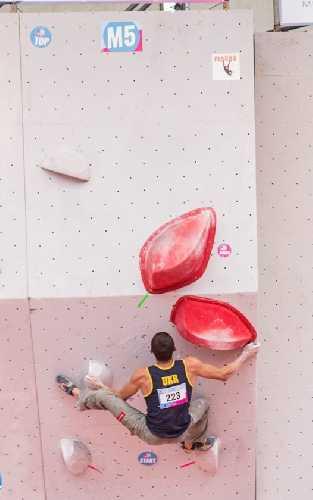 Павел Божко на Чемпионате Европы 2017 по скалолазанию в Слани