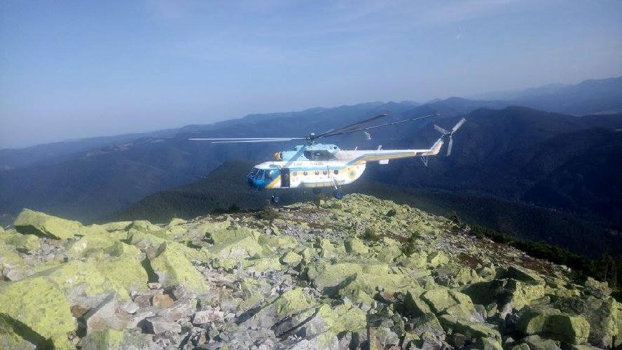 Аварийно-спасательная операция на горе Хомяк