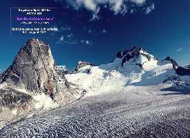 """Влад Капусан (Vlad Capusan) из Румынии и Том Шиндфессель (Tom Schindfessel) из Бельгии открыли новый маршрут """"Tutti Frutti Summer Love""""  по Северной стене горы Багбу Спайр (Bugaboos Spire) высотой 3204 метров в Британской Колумбии, Канада"""