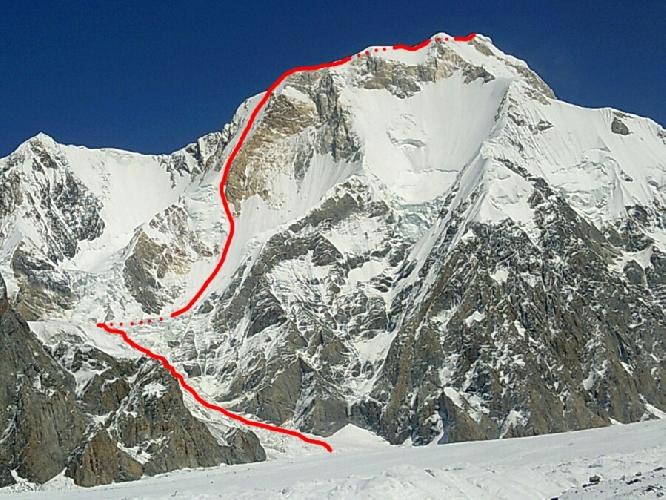 Маршрут ШАШКА (сабля) на вершину пика Чапаева (6371м)