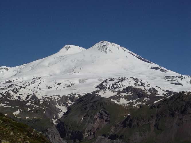 Эльбрус. Вид на Юго-Западную сторону