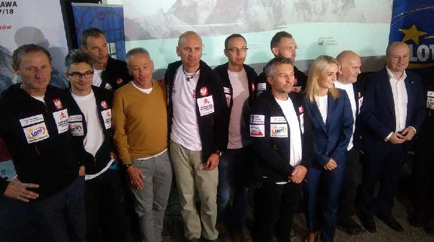 Польская команда на прессконференции в Варшаве