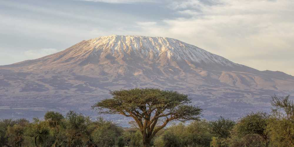 Килиманджаро - высочайшая вершина Африки.