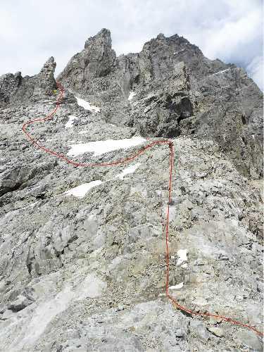 Промежуток маршрута между двумя кулуарами