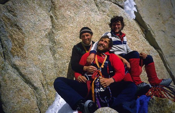 Франчек Кнез, Сильвио Каро и Джанеж Джеглич. Фицрой 1983 Фото из архива Франчека Кнеза