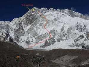 Три французских горных гида открывают в Непале новый маршрут по Южной стене Нупцзе