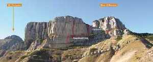 Виа феррата Джулио Сегата - одна из самых сложных феррат в горах озера Гарда