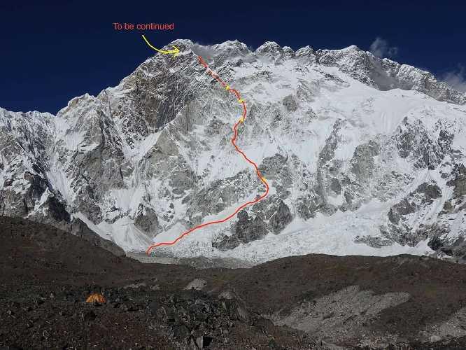 Новый французский маршрут на вершину Nuptse Nup II. Фото Le Gang des Moustaches