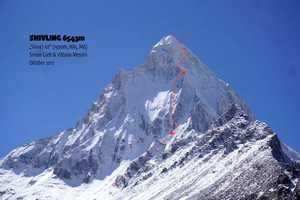 Альпинисты из Австрии и Италии открыли новый маршрут на вершину горы Шивлинг в Индийских Гималаях