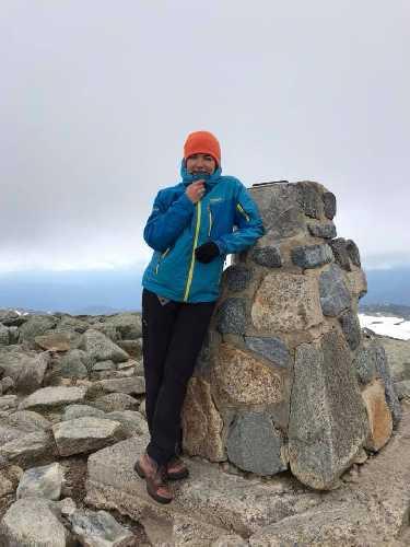 Татьяна Яловчак на вершине Австралии - горе  Косцюшко. Фото Татьяна Яловчак