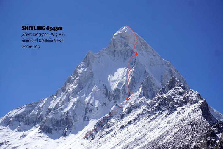 маршрут Shiva's Ice. Фото bergfuehrerkals.wordpress.com