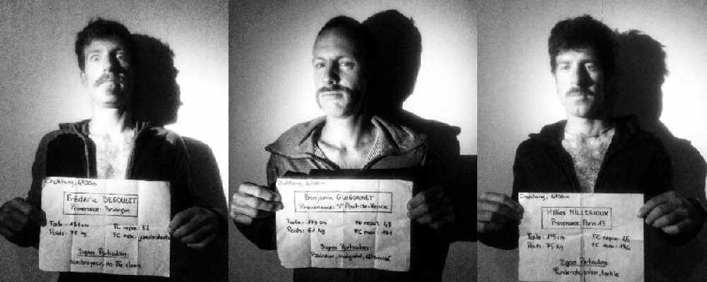 """""""Усатая банда"""" - Фредерик Дегуле (Frederic Degoulet), Бенджамин Гигоннэ (Benjamin Guigonnet), Элиа Мийриу (Helias Millerioux). Фото Le Gang des Moustaches"""
