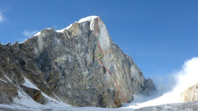 Грузинские альпинисты впервые открыли новый маршрут в Гималаях, совершив первовосхождение на вершину горы Ларкья Главная