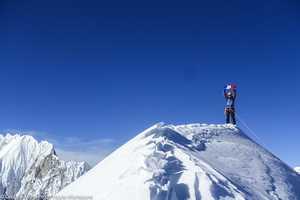 Французские альпинисты открывают первый маршрут на Северной стене непальской горы Пангбук Северный (Pangbuk North 6589 м)