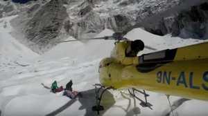 Как эвакуировали тело погибшего Валерия Розова с горы Ама-Даблам