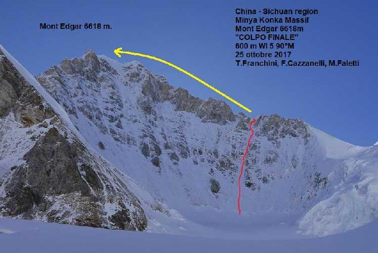 Маршрут на вершину горы Эдгар (Mount Edgar). Фото China Expedition 2017
