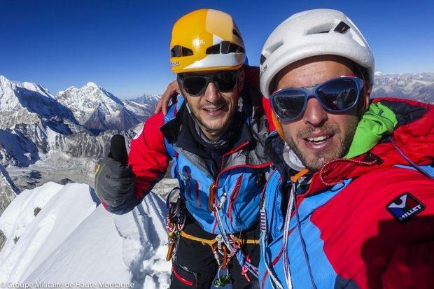 Макс Боннёт (Max Bonniot) и Пьер Санцер (Pierre Sancier). Фото Groupe militaire de haute montagne Chamonix