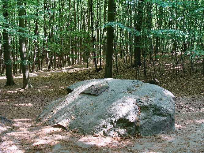 Памятный знак в честь Станислава Гронского в Буковом Лесу близ Щецина