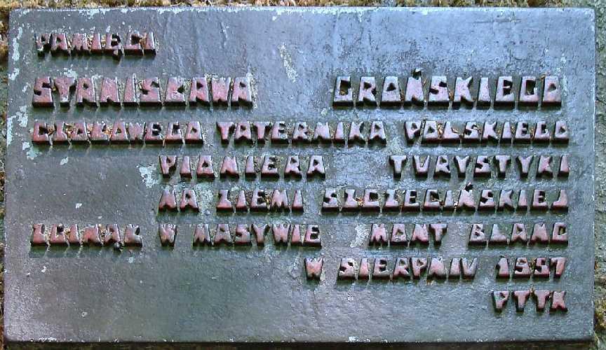 Памятный знак в честь Станислава Гронского в Буковом Лесу