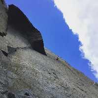Кейта Кураками (Keita Kurakami) на маршруте «The Nose» на Эль-Капитане. Фото Keita Kurakami