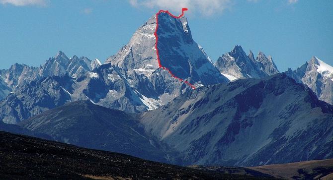 Планируемый маршрут на вершину Кемайлонг (Kemailong)