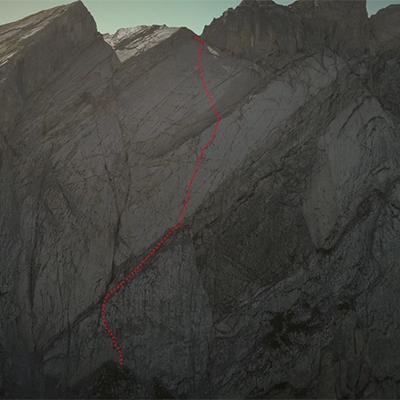 маршрут по Северо-Западной стене Miroir de l'Argentine. Фото mammut.ch