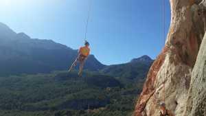 Прохождение харьковских скалолазов на скалах Турции