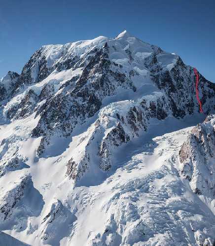 "маршрут ""Remembrance"" по Южной стене горы Кука. Фото Ben Dare"