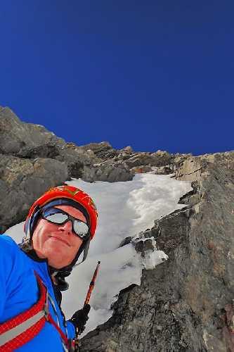 "Бен Даре (Ben Dare) на маршруте ""Remembrance"" по Южной стене горы Кука. Фото Ben Dare"