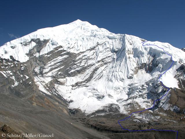 На вершину Чулу Западная (Chulu West) по Западному хребту