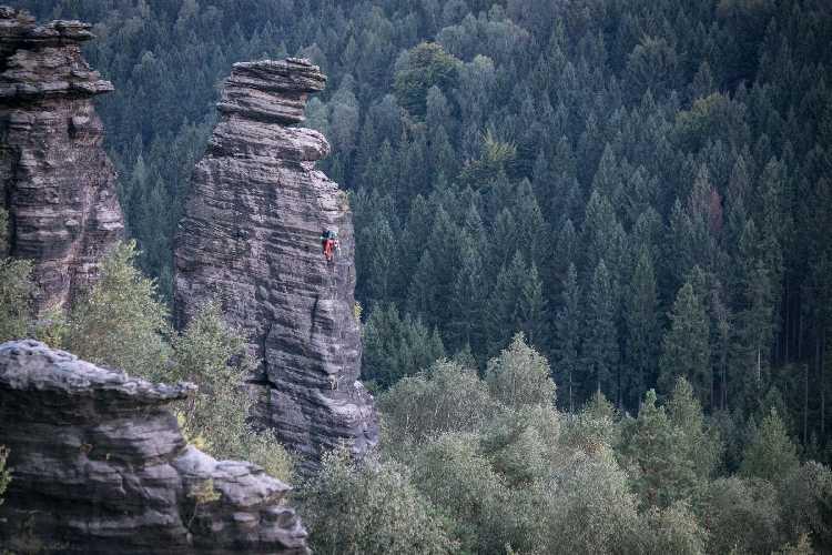 """Perrykante"" 6а - старейший скалолазный маршрут. Фото  Standa Mitáč"