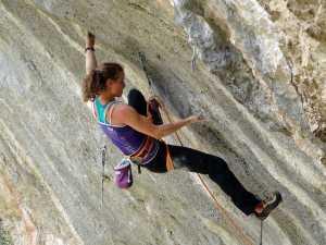 Очередное достижение женского скалолазания: Анак Верховен проходит маршрут