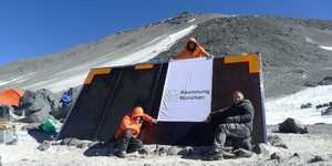 Самая высокая горная хижина в мире открылась на вулкане Охос дель Саладо