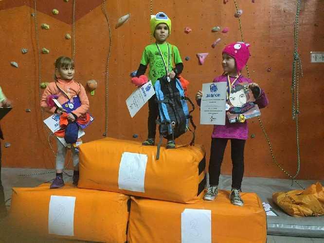 Junior Climbing Jam 2017. Победители среди девочек группа 5-6 лет