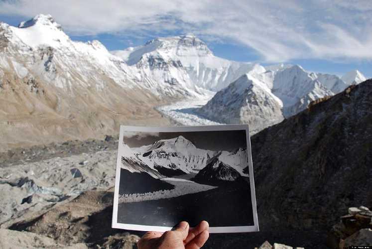 Эверест. Фото David Breashears для huffingtonpost.com