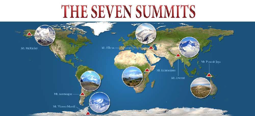 """горные вершины задачи """"7 SUMMITS"""""""