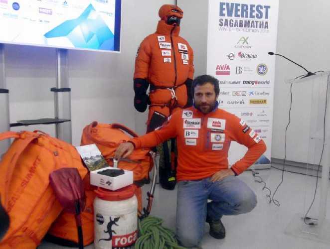 Алекс Тикон (Alex Txikon) перед началом зимней экспедиции на Эверест, 22 декабря 2017 года. Фото bizkaie . biz