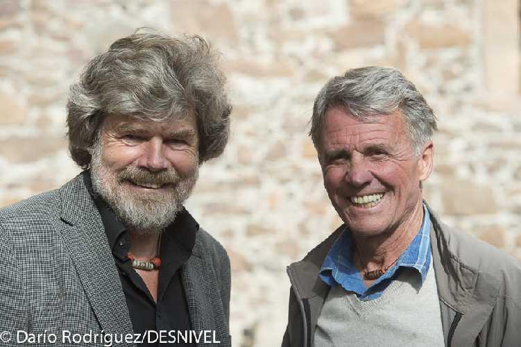 Петера Хабелера (Peter Habeler) и Райнхольд Месснер (Reinhold Messner) в 2014 году