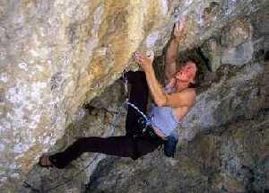 Новый рекорд в скалолазании установила 52-летняя французская скалолазка Кэти Вагнер пройдя сложность 8а+