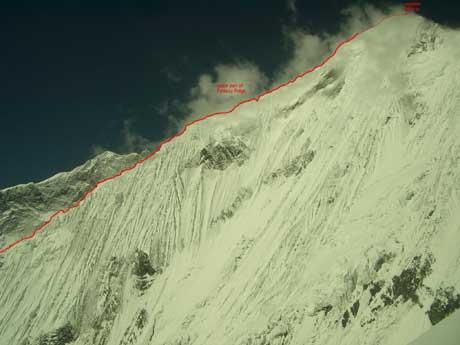 Fantasy ridge. Верхняя часть маршрута. Фото everestnews . com
