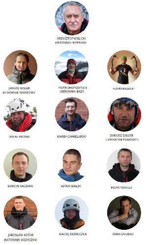Состав польской команды к зимнему К2. Фото wspinanie . pl