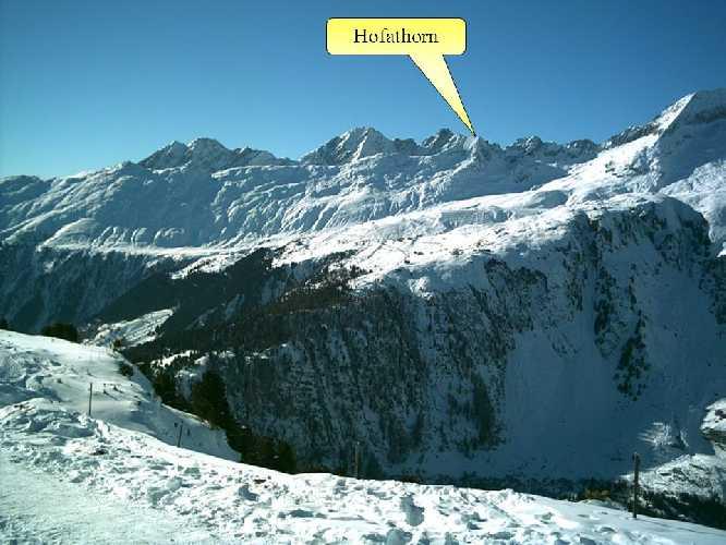 Хофатхорн (Hofathorn, 2844 метров). Фото SlidePlayer . org