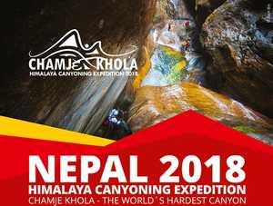 Украинские экстремалы планируют первое в истории полное прохождение самого сложного в мире каньона Chamje Khola в Непале