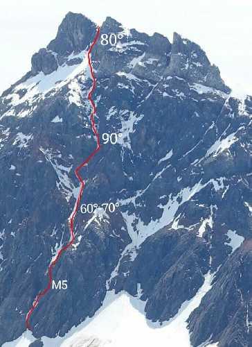 Третий маршрут на вершину  Cerro Solo. Фото James Monypenny