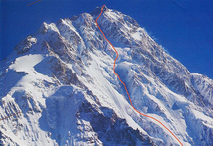 Нангапарбат. маршрут Месснера (Messner route)